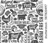 typographic vector butchery...   Shutterstock .eps vector #587820497