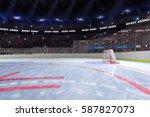 sport hockey stadium 3d render... | Shutterstock . vector #587827073