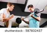 young man working out with... | Shutterstock . vector #587832437