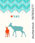 greeting card template for...   Shutterstock .eps vector #587833277