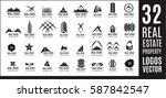 real estate logo set   creative ... | Shutterstock .eps vector #587842547