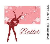 silhouette of the dancing... | Shutterstock .eps vector #587843333