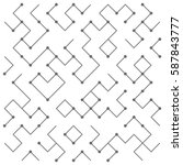 geometric lines and dots. line...   Shutterstock .eps vector #587843777