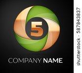 number five vector logo symbol...   Shutterstock .eps vector #587843837