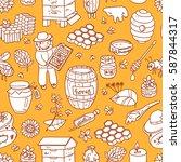 vector honey element doodle...   Shutterstock .eps vector #587844317