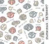 seamless pattern with hand... | Shutterstock .eps vector #587844497