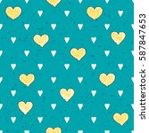 seamless pattern with hearts | Shutterstock .eps vector #587847653