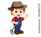 vector illustration of cartoon... | Shutterstock .eps vector #587856713