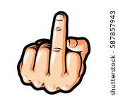 hand gesture  fuck you  symbol. ... | Shutterstock .eps vector #587857943