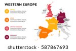 western europe map infographic. ... | Shutterstock .eps vector #587867693