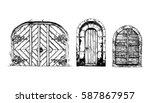 vector illustration set of hand ... | Shutterstock .eps vector #587867957
