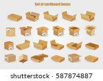 set of cardboard boxes... | Shutterstock .eps vector #587874887