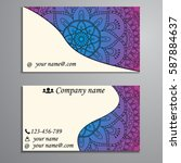 visiting card and business card ... | Shutterstock .eps vector #587884637