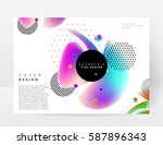 memphis geometric background... | Shutterstock .eps vector #587896343