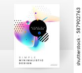 memphis geometric background... | Shutterstock .eps vector #587902763