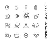business and office set icons... | Shutterstock .eps vector #587914577