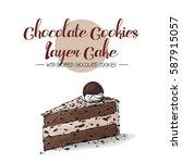 isolated tasty cake. sketch  ... | Shutterstock .eps vector #587915057