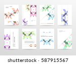 memphis geometric background... | Shutterstock .eps vector #587915567