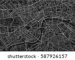 black and white vector city map ... | Shutterstock .eps vector #587926157