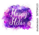 holi festival vector banner...   Shutterstock .eps vector #587934113