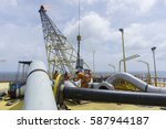 oil and gas industries. rigger... | Shutterstock . vector #587944187