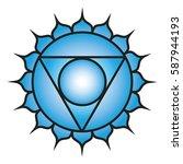 seven major chakras. vishuddha...   Shutterstock .eps vector #587944193