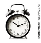 black alarm clock isolated on... | Shutterstock . vector #587947373