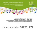 music notes on a color... | Shutterstock .eps vector #587951777