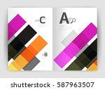 business a4 business brochure...   Shutterstock .eps vector #587963507