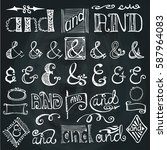 doodles ampersands and... | Shutterstock .eps vector #587964083