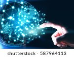 world connected.social network...   Shutterstock . vector #587964113