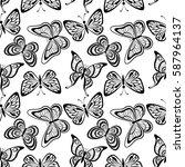 seamless tile pattern ... | Shutterstock .eps vector #587964137