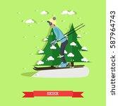 vector illustration of boy...   Shutterstock .eps vector #587964743