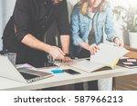 teamwork. businessman and...   Shutterstock . vector #587966213