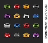 car icons | Shutterstock .eps vector #587972003
