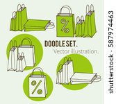big sale icon set for shop ... | Shutterstock .eps vector #587974463