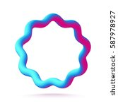 3d abstract wavy star figure.... | Shutterstock .eps vector #587978927