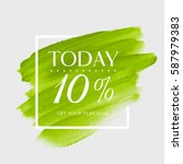 sale today 10  off sign over... | Shutterstock .eps vector #587979383