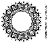 mandalas for coloring book.... | Shutterstock .eps vector #587980007