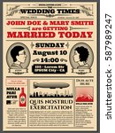 vintage newspaper front page ... | Shutterstock .eps vector #587989247
