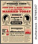 Vintage Newspaper Front Page ...