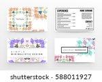 memphis geometric background...   Shutterstock .eps vector #588011927