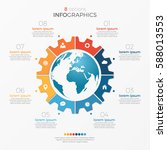 circle chart infographic... | Shutterstock .eps vector #588013553