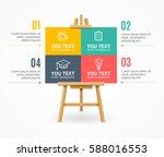 wooden easel menu infographic... | Shutterstock .eps vector #588016553