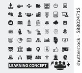 learning concept icons | Shutterstock .eps vector #588024713