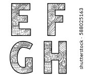 set of vector big letters with...   Shutterstock .eps vector #588025163