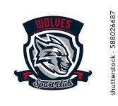 colourful emblem  logo  sticker ...   Shutterstock .eps vector #588026687
