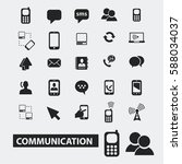 communication icons  | Shutterstock .eps vector #588034037