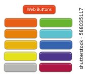 3d web buttons vector isolated... | Shutterstock .eps vector #588035117
