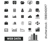 web data icons | Shutterstock .eps vector #588040097